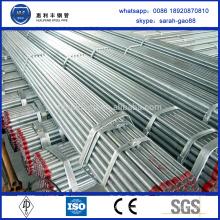 Tuyau d'eau de fer galvanisé ASTM A179 de haute qualité