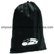 Personalized Large Black Nylon Drawstring Laundry Bag
