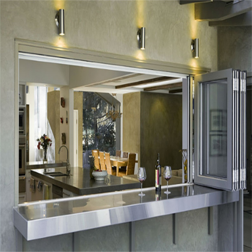 Aluminum Clear Glass Folding Window