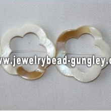 5 petal flower shape freshwater shell beads
