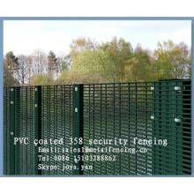 """Bordure de protection PVC enduit et galvanisé à chaud 8 fil de calibre 1/2 """"x3"""" compte de maille soudé panneau de clôture de maille avec support H"""
