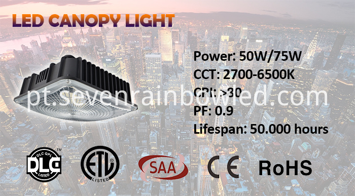 50W Led Canopy Lighting