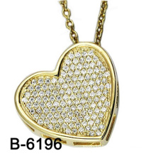 New Model Fashion Jewelry 925 Sterling Silver Pendant with Love