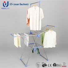 Rack de secagem dobrável multiuso de aço inoxidável