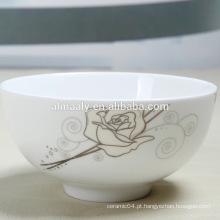 Bela porcelana footed tigela cerâmica footed tigela