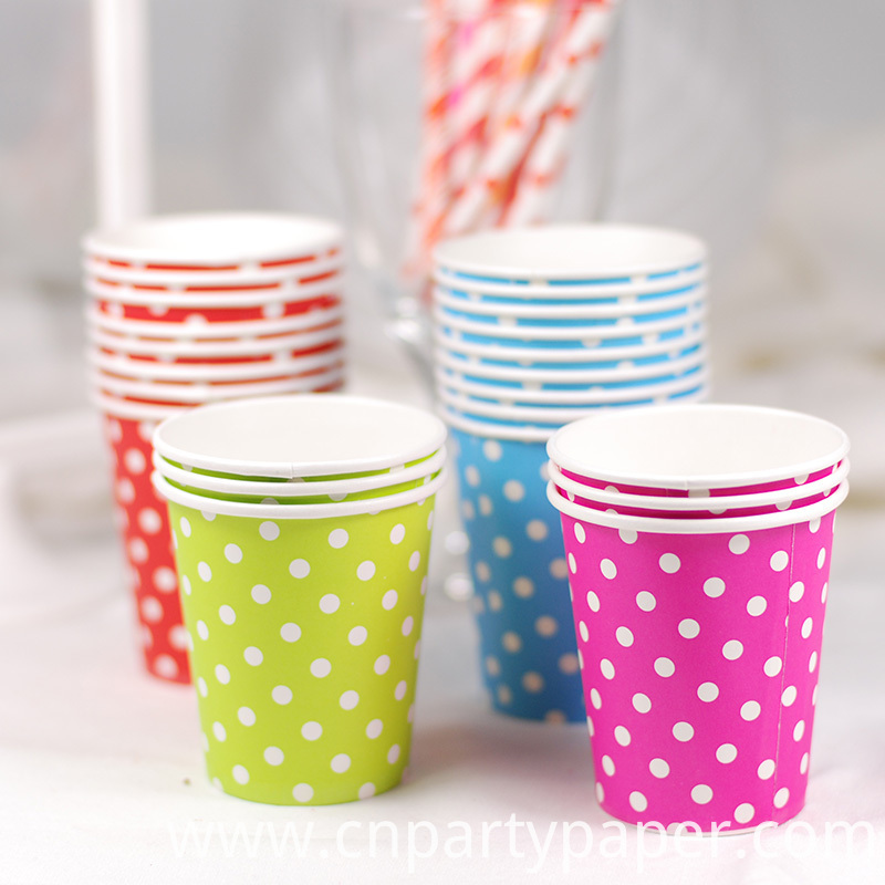 2015-Hot-50pcs-Mint-Blue-Red-Pink-Light-Green-Disposable-Polka-Dots-Paper-Cups-of-Degradable