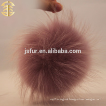 China Manufactory Light Purple Raccoon Fur Pom Pom Wholesale Large Colorful Fur Ball Accessories