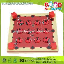 2015 Новая деревянная игрушка с памятью памяти, интеллектуальная игра памяти божьей коровки, развивающие игрушки для детей