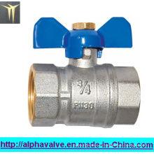 Латунный запорный клапан с рукояткой барабана / шаровым краном (a. 0110)