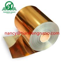 Película rígida de PVC de color dorado para hojas de X 'Mas Tree
