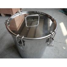 Tambor de aço inoxidável com pull down bloqueio