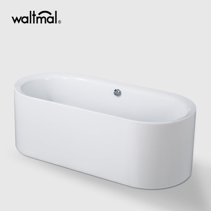 Arabella Oval One-Piece Freestanding Bathtub in Acrylic
