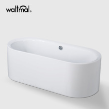 Arabella Oval Satu-Piece Freestanding Bathtub di Acrylic
