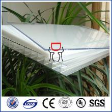Hoja PC de policarbonato hueco para material de construcción