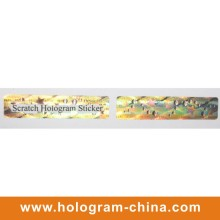 Hologram Scratch off Adhesive Label Sticker