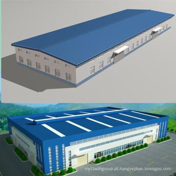 Edifício Pré-fabricado de Estrutura de Estrutura de Aço