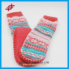 2015 жаккардовые длинные акриловые резиновые одноразовые носки для взрослых