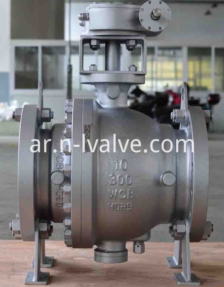 Worm Gear Operated Trunnion Ball Valve