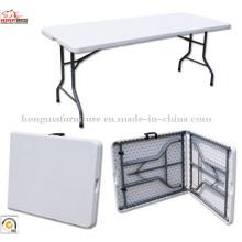6ft Cheap HDPE Plastic Blow moldado mesa dobrável e cadeiras para atacado