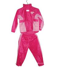 100% Polyester Waterproof Children Rain Suit