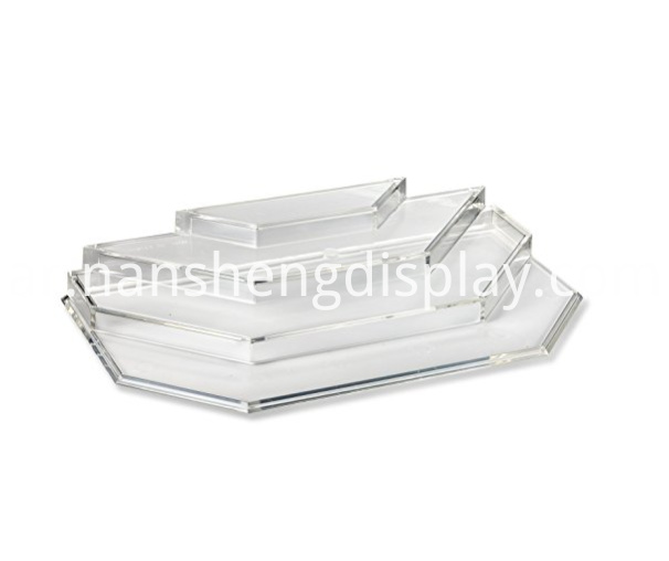 Clear Acrylic Nail Polish Display Storage