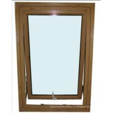 Fenêtre accrochante en aluminium de haute qualité avec le double verre