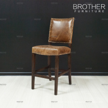Best price in market bar chair vintage leather bar stool high chair