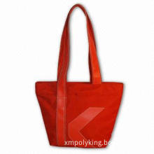 Lady Hand Bag with PVC Leather Handle