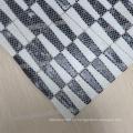 proveedor chino tira mixta en blanco y negro mosaico de cristal esmaltado