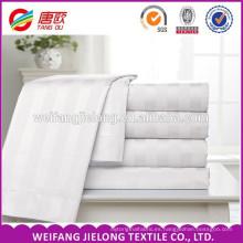 Tela de hotel 100% algodón lisa / satinada / raya Tela de cama de hotel 100% algodón Tela de raso de satén, tela de juego de cama de hotel