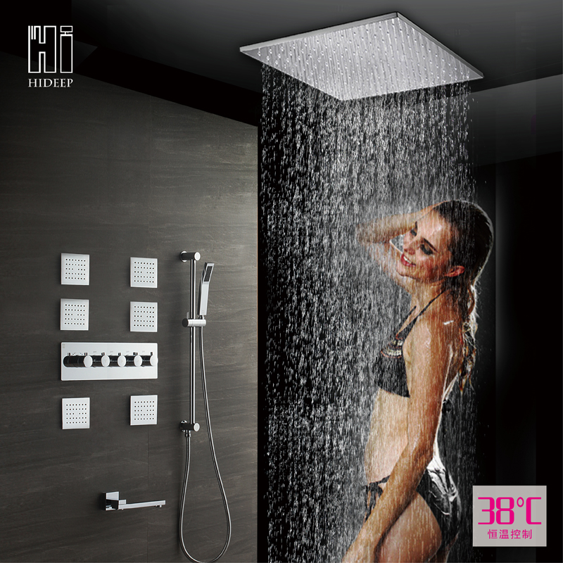 body jet thermostatic shower set