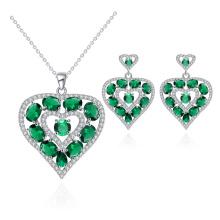 Wedding jewelry set heart shape jewelry valentine's day present