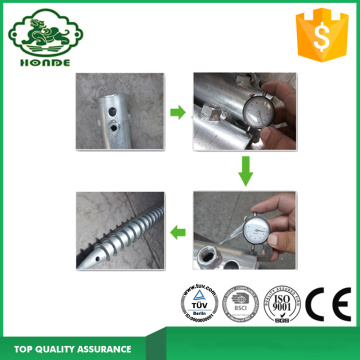 Ground Screw Anchor With 3 Nuts