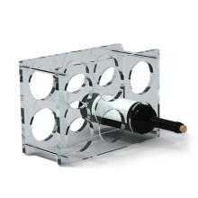 Clear Acrylic Display Racks for Wine Bottles, POS Wine Display