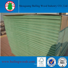 18mm High Moisture Resistant Hmr MDF with Green Core