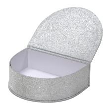 Caixa de embalagem de presente de papel de forma irregular de brilho