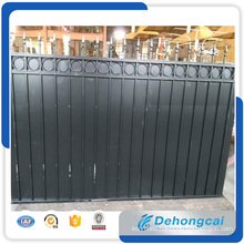 Welded Galvanized Black Powder Coating Wrought Iron Fence /Steel Garden Fencing with Iron Panels