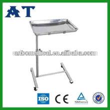 Mesa de instrumentos de altura ajustable de acero inoxidable