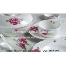 non color creamy white embossed bone china ceramic kitchenware restaurant wholesale