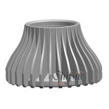 Dissipateur de chaleur de logement en aluminium adapté aux besoins du client