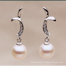 Natural Round Pearl Earrings Jewelry