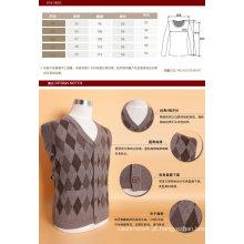 Yak lã / cashmere V Neck Cardigan camisola de manga comprida / vestuário / vestuário / malhas