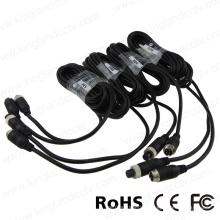 5 Meter Extension Cable with 4 Pin Aviation Connector for Car Camera