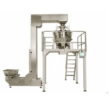 Continuous multi head fully automated packaging machine with filling and sealing and conveying functions