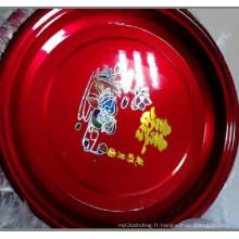 2015 rouge couleur plaque d'acier inoxydable en gros