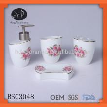4pcs conjunto de cerâmica tulipa banheiro
