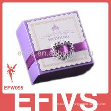 Nueva caja púrpura linda delicada del favor de la boda Venta al por mayor