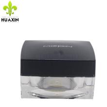 cosmético cuadrado vacío de plástico para tarros sin aire de acrílico crema de piel