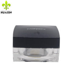 empty plastic square cosmetic for skin cream acrylic airless jars