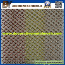 Cortina de malha de metal usada em segurança industrial